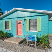 Front of Blue Turtle Cottage on Anna Maria Island