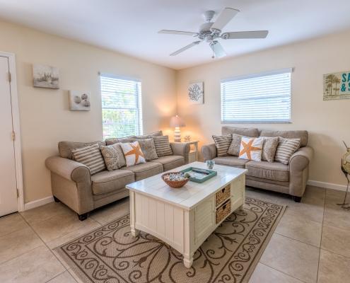 Blue Turtle Cottage Living Room